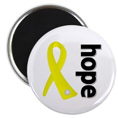 "Hope Ribbon Ewing Sarcoma 2.25"" Magnet (10 pack)"