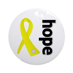 Hope Ribbon Ewing Sarcoma Ornament (Round)