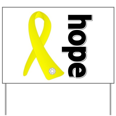 Hope Ribbon Ewing Sarcoma Yard Sign