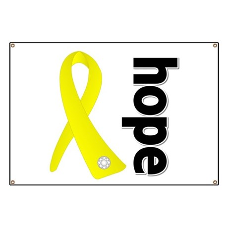 Hope Ribbon Ewing Sarcoma Banner