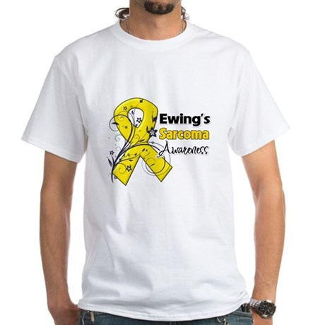 Ewing Sarcoma Awareness White T-Shirt