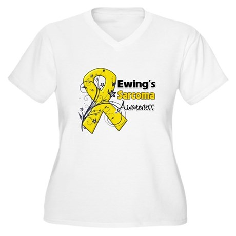 Ewing Sarcoma Awareness Women's Plus Size V-Neck T