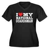 I Love My National Guardsman Women's Plus Size V-N