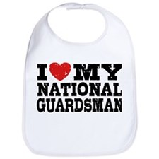 I Love My National Guardsman Bib