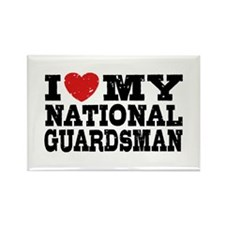 I Love My National Guardsman Rectangle Magnet