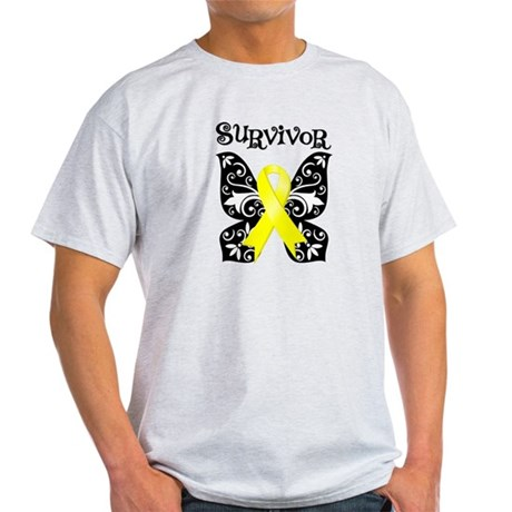 Survivor Butterfly Ewing Sarcoma Light T-Shirt