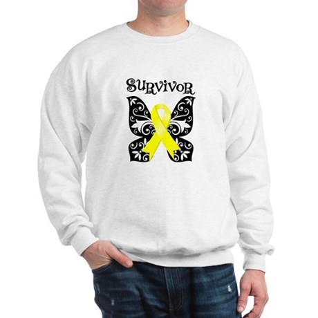 Survivor Butterfly Ewing Sarcoma Sweatshirt