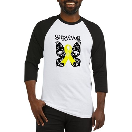 Survivor Butterfly Ewing Sarcoma Baseball Jersey