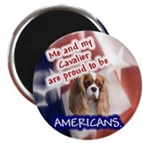 Patriotic Cavalier (Blenheim) Magnet