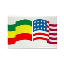 Ethiopian American Rectangle Magnet (10 pack)