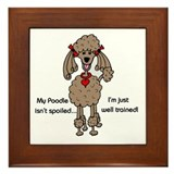 Chocolate Poodle Framed Tile