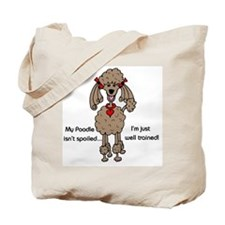Chocolate Poodle Tote Bag