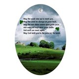 May the road rise up to meet you Ornament (Oval)