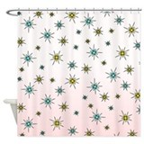 1950s Starburst Shower Curtain
