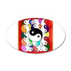 Yin Yangs 22x14 Oval Wall Peel
