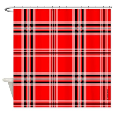 red and black plaid shower curtain by rainbowhot