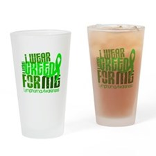 I Wear Lime 6.4 Lymphoma Drinking Glass