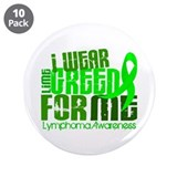 "I Wear Lime 6.4 Lymphoma 3.5"" Button (10 pack)"