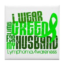 I Wear Lime 6.4 Lymphoma Tile Coaster