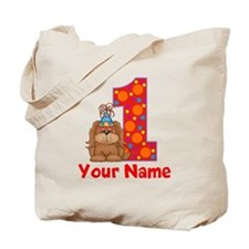 1st Birthday Puppy Tote Bag