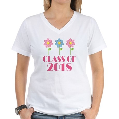 2018 School Class Women's V-Neck T-Shirt