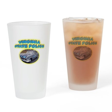 Virginia State Police Drinking Glass
