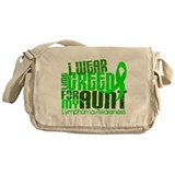 I Wear Lime 6.4 Lymphoma Messenger Bag