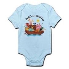 1st Birthday Noah's Ark Infant Bodysuit