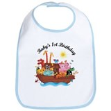 1st Birthday Noah's Ark Bib
