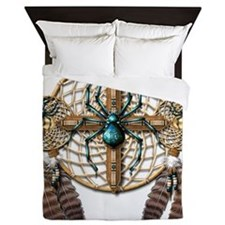 Labradorite Spider Dreamcatcher Queen Duvet