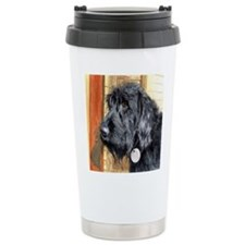 Black Labradoodle Ralph Ceramic Travel Mug