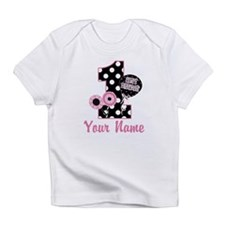 1st Birthday Pink and Black D Infant T-Shirt