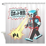 Robot Insurrection Shower Curtain
