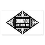 Colorado Girls Kick Ass Sticker (Rectangle)