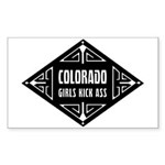 Colorado Girls Kick Ass Sticker (Rectangle 10 pk)