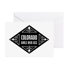 Colorado Girls Kick Ass Greeting Cards (Pk of 10)