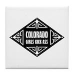 Colorado Girls Kick Ass Tile Coaster