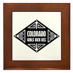Colorado Girls Kick Ass Framed Tile