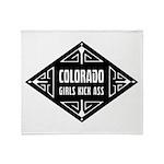 Colorado Girls Kick Ass Throw Blanket
