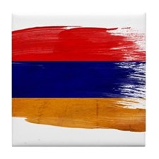 Armenia Flag Tile Coaster