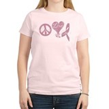 Cute Peace love cure T-Shirt
