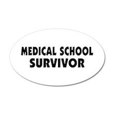 Medical School Survivor 38.5 x 24.5 Oval Wall Peel