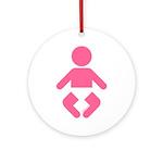 I am a Baby Icon Ornament (Round)