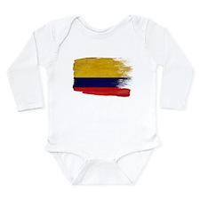 Colombia Flag Long Sleeve Infant Bodysuit