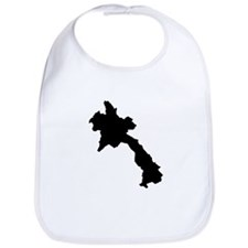 Laos - country silhouette Bib