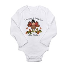 Cute Girl thanksgiving Long Sleeve Infant Bodysuit