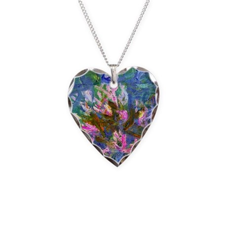 Monet - Agapanthus Detail Necklace Heart Charm