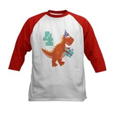 4th Birthday Dinosaur Tee