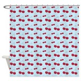 Light Blue Cherry Shower Curtain