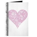 Pink Decorative Heart Journal